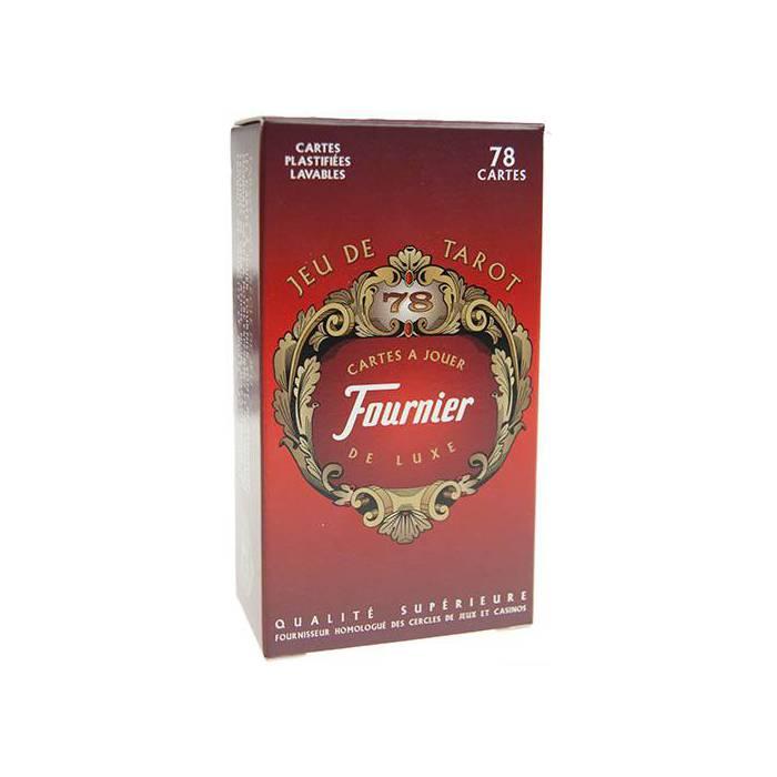 Fournier Tarot de luxe- Jeu de 78 cartes cartonnées plastifiées