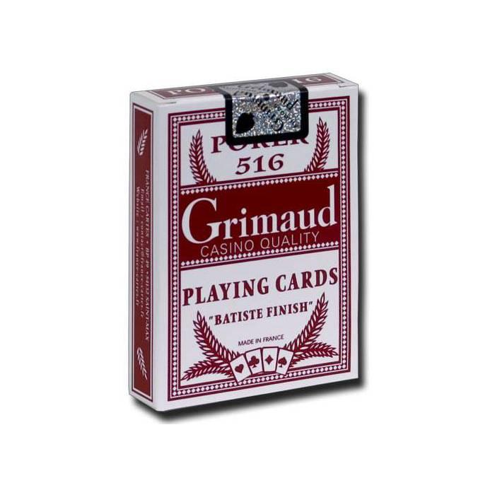 Grimaud Poker 516 – jeu de 54 cartes toilée plastifiée – format poker – 2 index standards