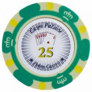 Jeton de poker CROWN - en clay composite avec insert métal - 14g – en vente à l'unité