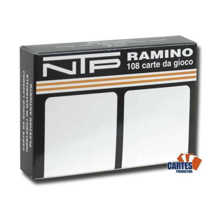 Duo pack NTP Bianco – 2 Jeux de 54 cartes 100% plastique – format poker XL – 4 index standards