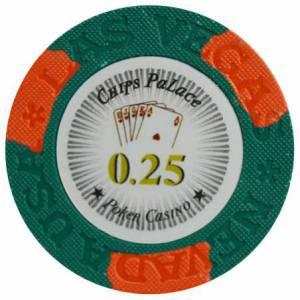 Jeton de poker LAS VEGAS - en clay composite avec insert métal - 14g – en vente à l'unité