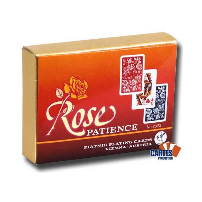 Rose Patience - 2 jeux de 52 cartes