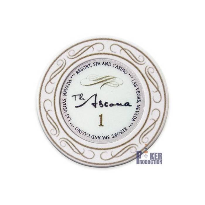 Jeton de poker THE ASCONA – en céramique – 10g - en vente à l'unité