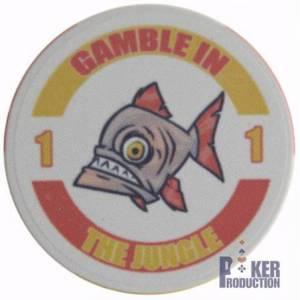 Jeton de poker THE JUNGLE - en céramique -10g – en vente à l'unité