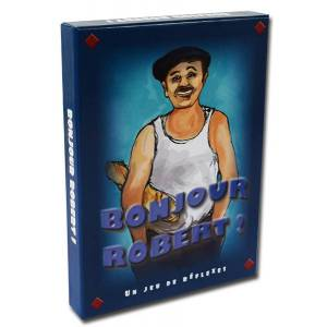 Bonjour Robert - jeu de 52 cartes cartonnées plastifiées