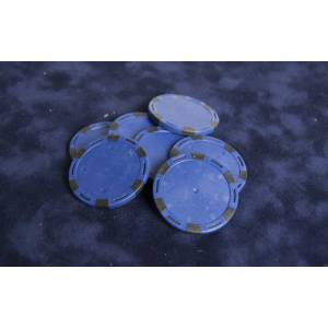 Jetons de poker à sticker - en ABS – 40 mm