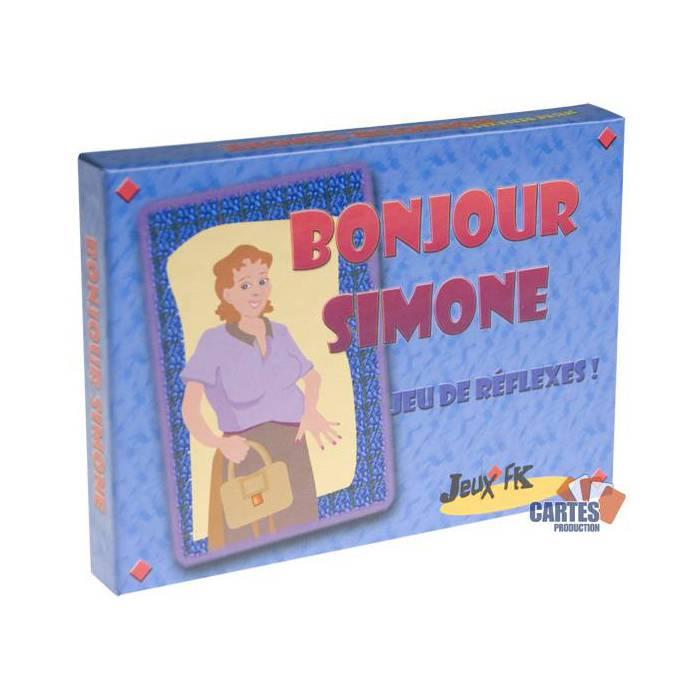 Bonjour Simone - jeu de 52 cartes cartonnées plastifiées