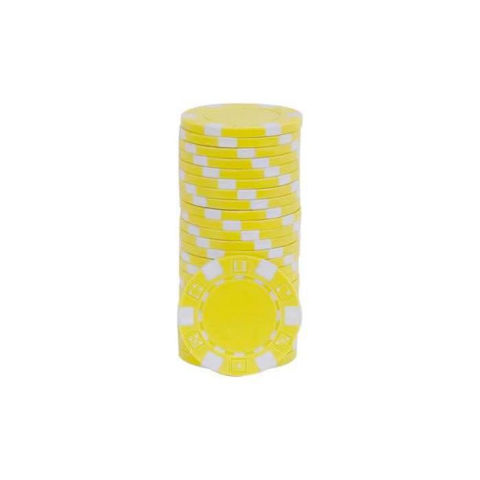 Jetons de poker DICE - en ABS avec insert métallique – rouleau de 25 jetons  – 11