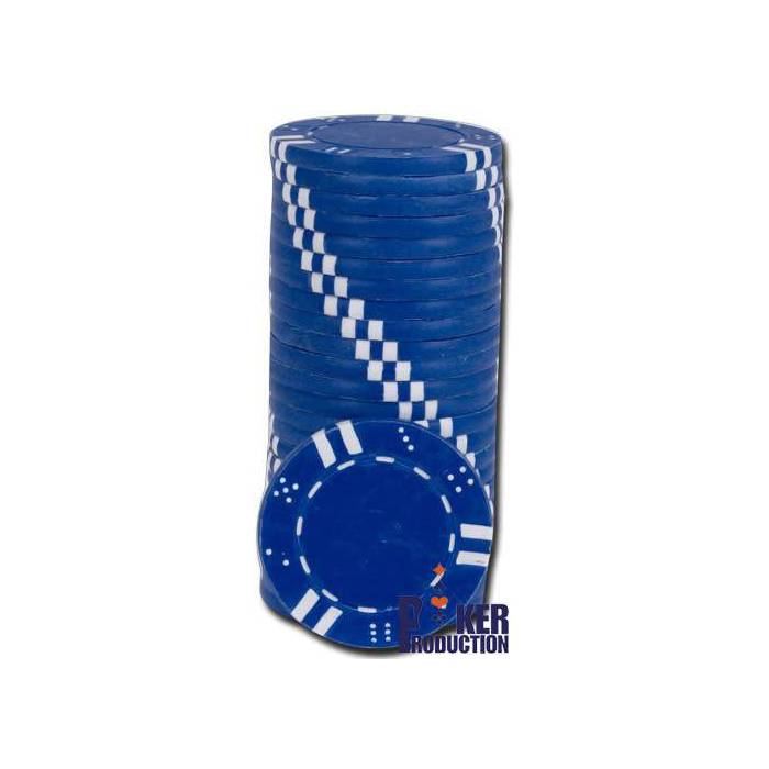 Jetons de poker DOUBLE DICE AND STRIPES - en ABS avec insert métallique – rouleau de 25 jetons  – 11
