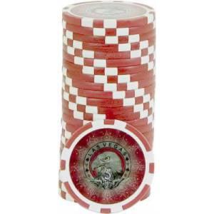 Jetons de poker LASER EAGLE - en ABS avec insert métallique – rouleau de 25 jetons  – 11