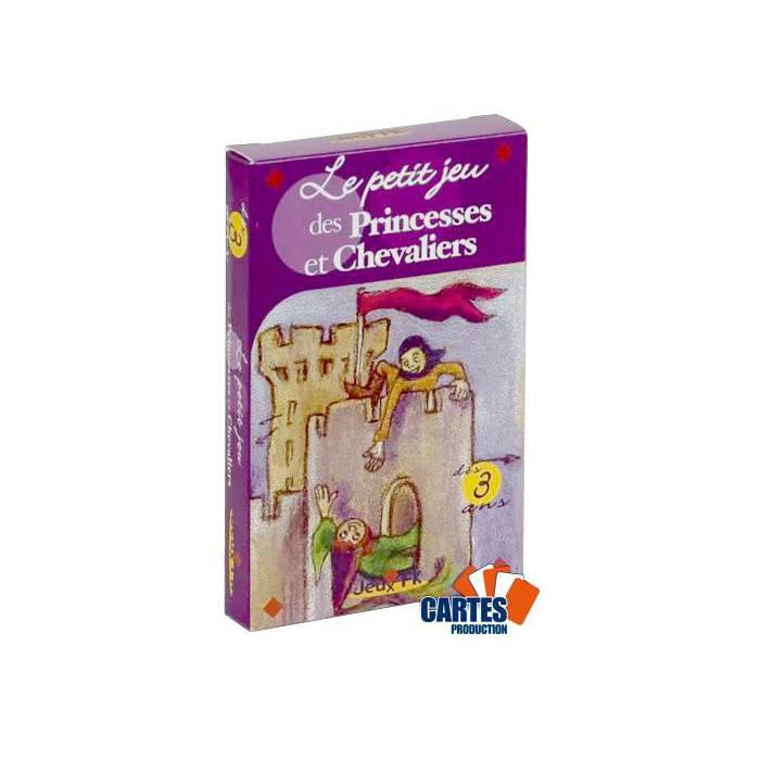 Le petit jeu des Princesses et Chevaliers - jeu de 32 cartes cartonnées plastifiées -100 x 65 mm