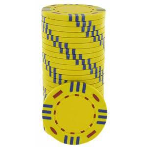 Jetons de poker STRIPES - en Clay Composite – rouleau de 25 jetons – 14 g