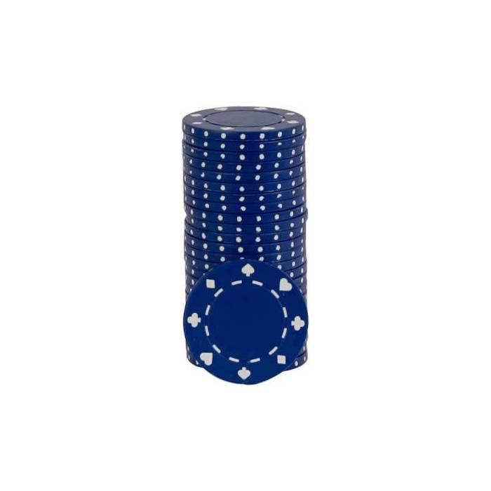 Jetons de poker SUITED - en ABS avec insert métallique – rouleau de 25 jetons  – 11