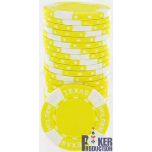 Jetons de poker TEXAS HOLDEM - en Clay Composite – rouleau de 25 jetons – 11