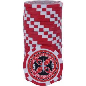 Jetons de poker ULTIMATE POKER CHIPS - en ABS avec insert métallique – rouleau de 25 jetons  – 11