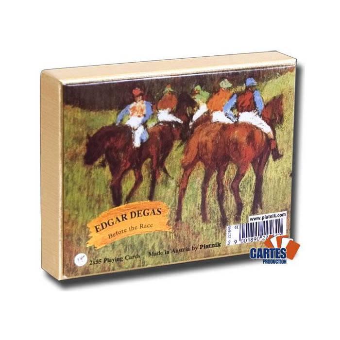 Edgar Degas Before the race - 2 jeux de 52 cartes