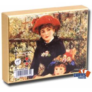 Renoir Red Hat - 2 jeux de 52 cartes