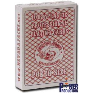 Nevada Jack Playing Cards - Jeu de 54 cartes 100% plastique – format poker - 2 index standards