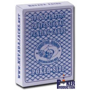 Nevada Jack Playing Cards - Jeu de 54 cartes 100% plastique – format poker - 2 index standards