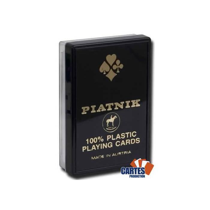 Piatnik Bridge - Jeu de 54 cartes 100% plastique – 4 index standards – boîtier plastique