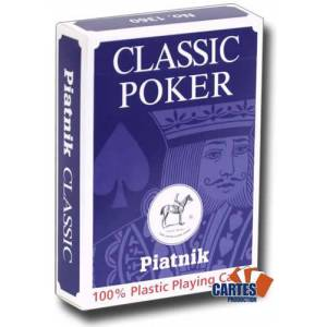 Piatnik Classic Poker - Jeu de 54 cartes 100% plastique – format poker – 4 index standards