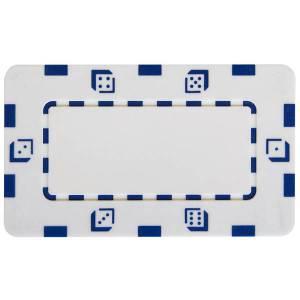 Plaque de poker DICE - en plastique ABS - 75 mm x 45 mm