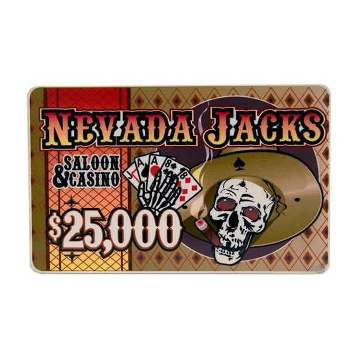 Plaque de poker NEVADA JACK – en céramique – 8