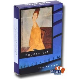 Guggenheim – jeu de 54 cartes cartonnées plastifiées – format poker – 2 index standards