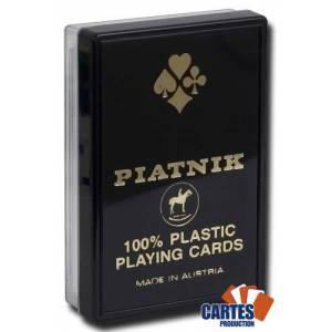 Piatnik Optic – Jeu de 54 cartes 100% plastique – format bridge – 2 index XXL