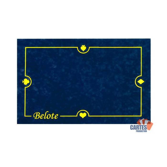 Tapis de Belote en suédine – glisse parfaite des cartes - 60x40 cm