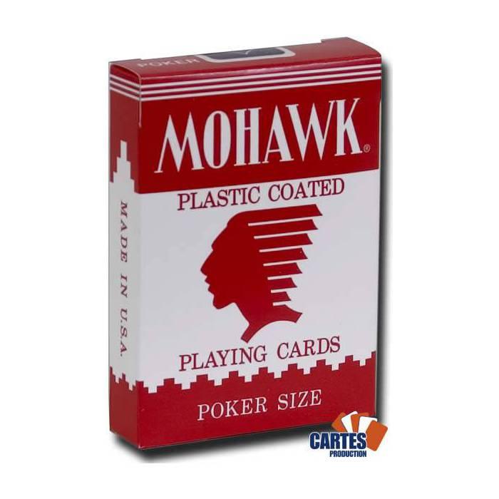 Mohawk - Jeu de 54 cartes cartonnées plastifiées – format poker – 2 index standards