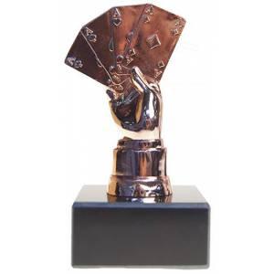 Trophée de poker POKER HAND – 13cm de hauteur – socle à personnalisé
