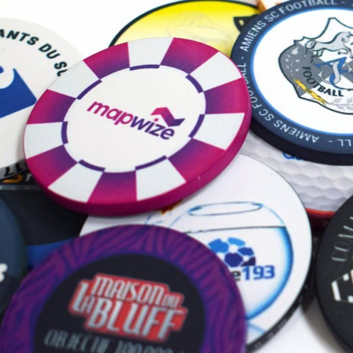 Jetons De Poker Personnalises En Ceramique Lisses 40mm De
