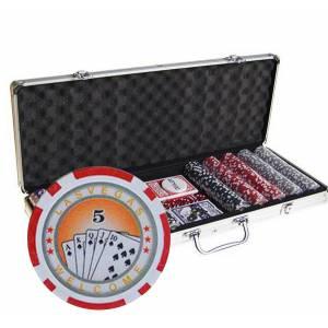 Mallette de 500 jetons de poker ROYAL FLUSH – en plastique ABS avec 11
