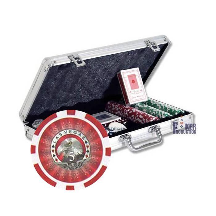 Mallette de 300 jetons de poker LASER EAGLE – en ABS
