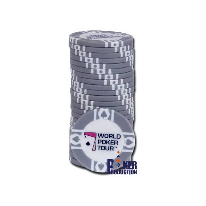 Jetons de poker WPT – en Clay Composite avec insert métallique – rouleau de 25 jetons  – 11