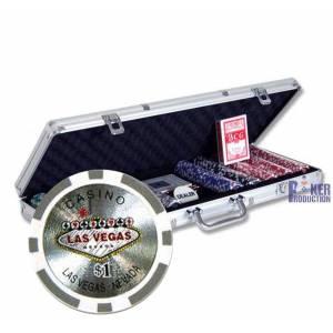 Mallette de 500 jetons poker WELCOME LAS VEGAS – en ABS