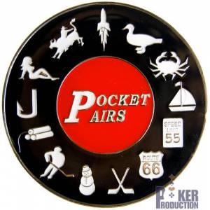Card-Guard POCKET PAIRS - en laiton – 2 faces différentes – 50mm de diamètre