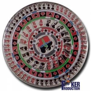 Card-Guard KALEÏDOSCOPE - en laiton – 2 faces différentes – 50mm de diamètre
