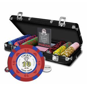 Mallette de 300 jetons de poker liberty - en polypropylène – 11