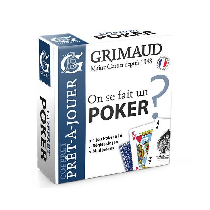 Coffret Poker prêt à jouer Grimaud
