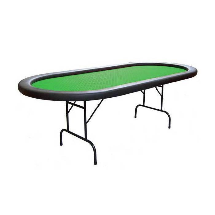 Table de poker ovale pliante BELLINI – tapis Suited Speed Cloth - dix joueurs