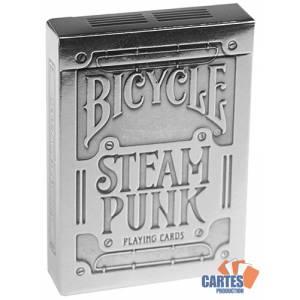"""Bicycle """"STEAMPUNK"""" – jeu de 55 cartes toilées plastifiées – format poker – 2 index standards"""