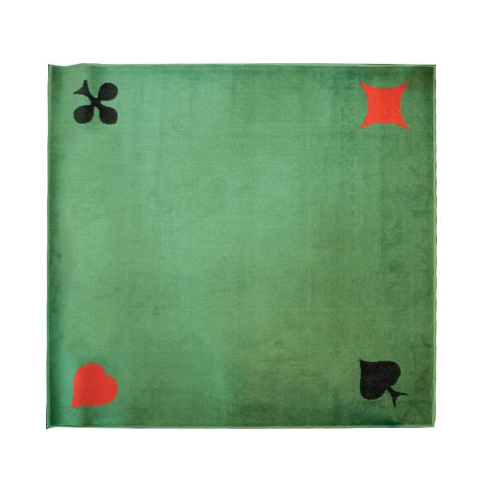 Tapis 4 AS - Tissé vert pour jeux de cartes