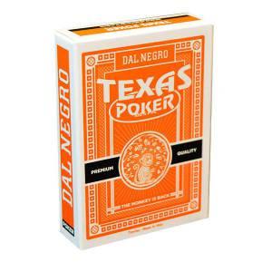 Dal Negro Texas Poker Monkey – jeu de 54 cartes 100% plastique – format poker – 2 index jumbo