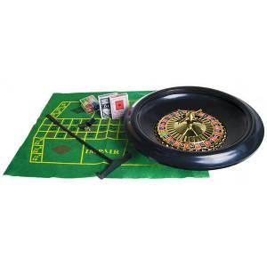 Set de Roulette Simple 0 – roulette en plastique de diamètre 40 cm - avec bille