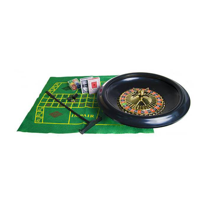 Set de Roulette Simple 0 – roulette en plastique de diamètre 40 cm - avec bille