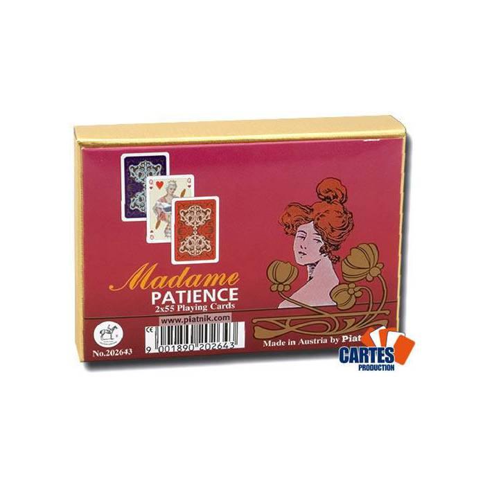 Madame Patience - 2 jeux de 52 cartes