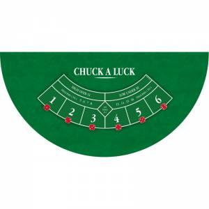 """Tapis de """"CHUCK A LUCK"""" - 140 x 70 cm - jersey néoprène - Demi-lune - 4 couleurs"""