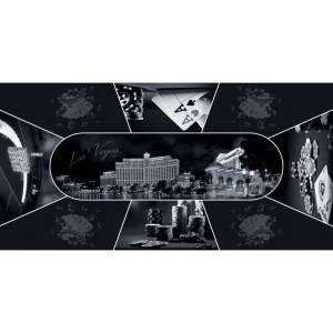 "Tapis de Poker rectangulaire ""Las Vegas Design"""